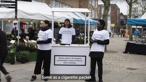 Campaña contra la obesidad en el Reino Unido, este febrero.