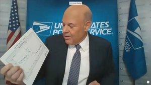 Captura de vídeo de la comparecencia en el Senado de Louis DeJoy, el director del Servicio Postal de EEUU.