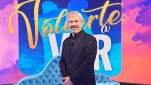 Carlos Sobera en el plató de Volverte a ver.