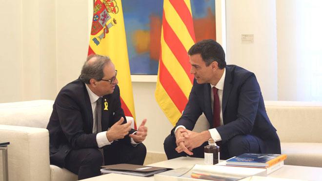 El presidente del Gobierno y el del Govern, en una reunión en Madrid el pasado mes de julio.