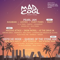 Cartel por días de Mad Cool Festival 2018.