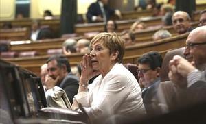 Celia Villalobos en el Congreso de los Diputados.