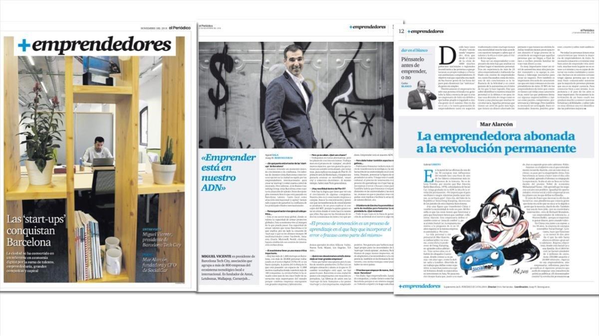 La portada, la entrevista y el perfil del nuevo suplemento.