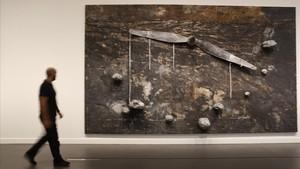Dionisio Aeropagita, de Anselm Kiefer, en la muestra de CaixaForum.