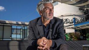 El director portugués Pedro Costa, fotografiado en Madrid el pasado día 15