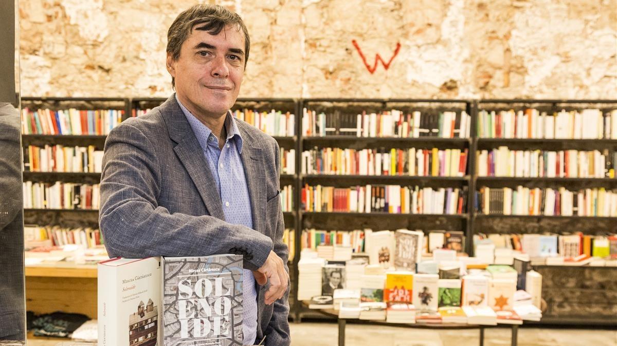 El escritor rumano MIrcea Cartarescu, en su última visita a Barcelona.