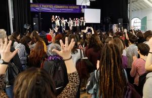 GRAF9225 MADRID ESPANA 11 02 2018 -El movimiento feminista de Madrid celebra un eventazo para apoyar la huelga feminista del proximo 8 de mayo en el Matadero de Madrid EFE Emilio Naranjo