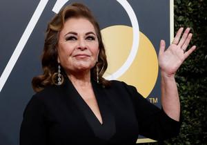 La actriz Roseanne Barr, en la gala de los Globos de Oro.