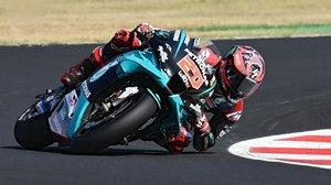 El francés Fabio Quartararo (Yamaha) fue, hoy, en Misano, el más veloz en MotoGP.