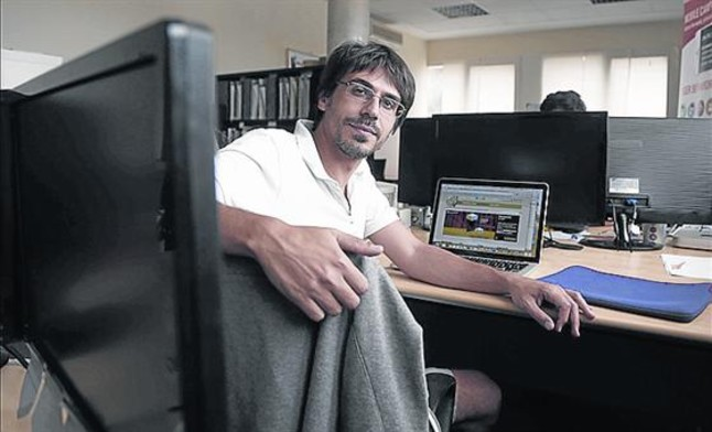 Gregorio López-Triviño, en su empresa.
