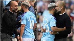 Guardiola abronca a Agüero tras sustituirlo y poco después se abraza a él cerrando una minicrisis