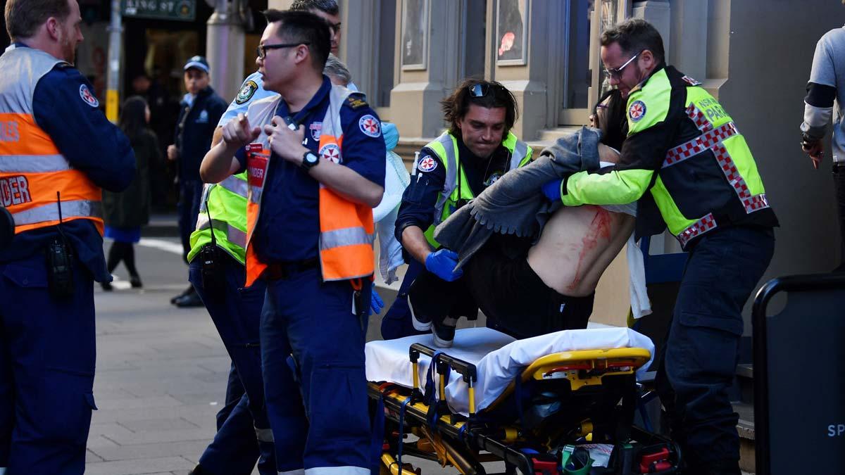 Un hombre, detenido en Sidney tras intentar apuñalar a varias personas.