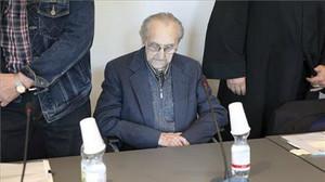 Hubert Z., en una sala de la Audiencia Provincial de Neubrandenburg (Alemania), este lunes.