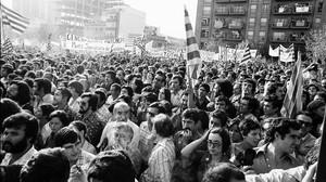 Imagen de la manifestación de la Diada de 1976 en Sant Boi de Llobregat.