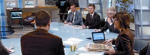 Imatge de l'emissió en directe d'una tertúlia al magazín informatiu de TV-3 'Els matins'.