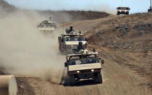 Elementos del Ejército de Israel en los Altos del Golán.