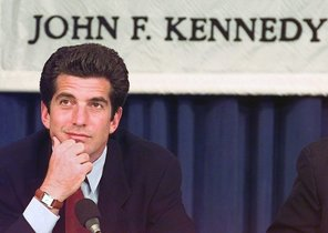 John F. Kennedy, Jr., son of the late President John Fitzgerald Kennedy, listens to a question from the audience during a panel discussion at Harvard University's John F. Kennedy School of Government in Cambrige, Mass., in this April 29, 1997 file photo. Kennedy attended the Irish Republican Army funeral of convicted truck-bomber Paddy Kelly, the IRA-allied Sinn Fein party confirmed Wednesday, June 18, 1997. Kennedy, president and a founder of ''George'' magazine, was among several hundred people who attended Saturday's funeral in Kilinarden, County Laois, about 50 miles west of Dublin, according to a statement from the Sinn Fein ''prisoner of war'' department. (AP Photo/Stephan Savoia)