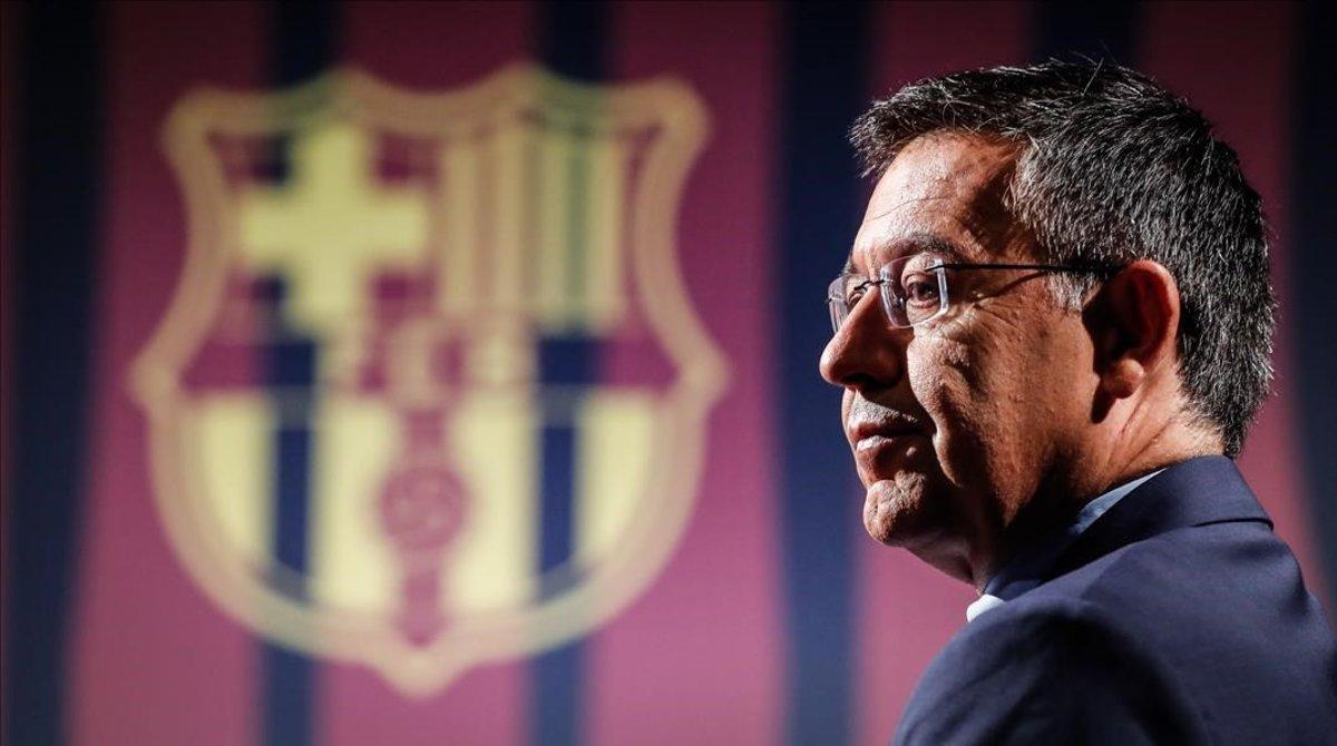 Josep Maria Bartomeu, en una entrevista reciente en BarçaTV.