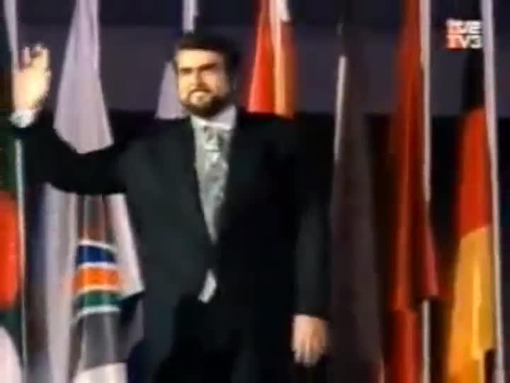 Los JJ.OO de Barcelona '92. Ceremonia inaugural. Aragall, Carreras, Domingo, Pons, Caballé, y Berganza