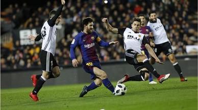 El Barça pasa a la final de la Copa del Rey tras ganar al Valencia (0-2)