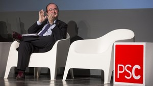 Miquel Iceta en un acto de campaña sobre municipalismo.