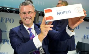 Norbert Hofer, nuevo presidente delPartido por la Libertadde Austria.