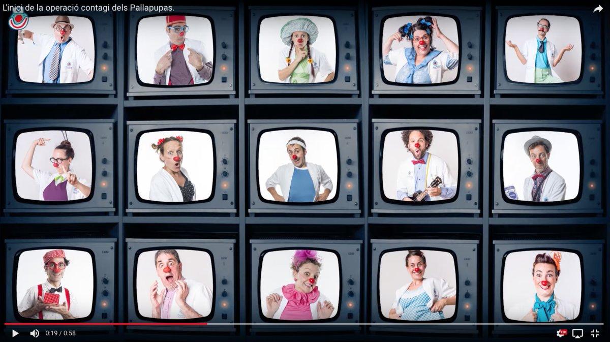 Uno de los momentos de uno de los vídeos de Pallapupas de la serie 'Operació Contagi'.