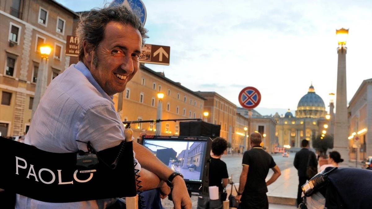 Paolo Sorrentino, en un rodaje
