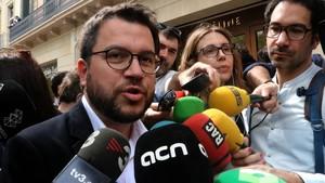 El adjunto a la presidencia de ERC, Pere Aragonès.