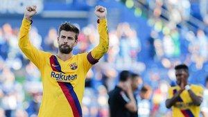 Piqué, al término del Getafe-Barça del sábado pasado.