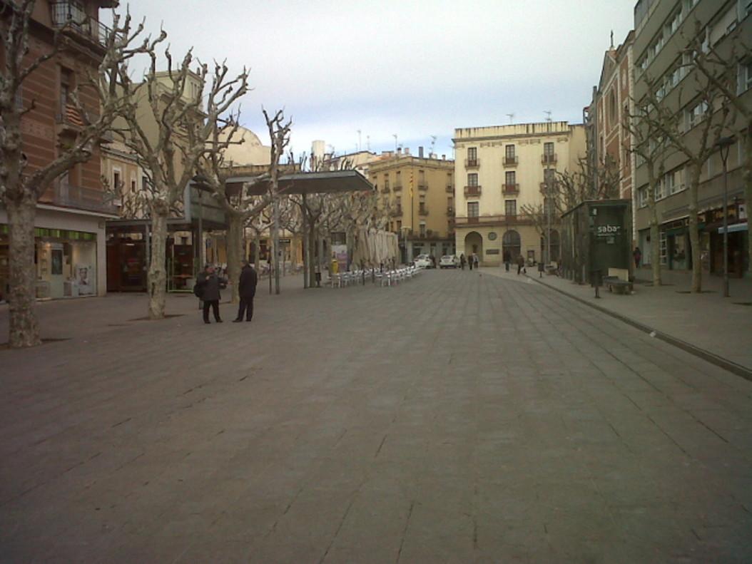 Plaça de Santa Anna de Mataró, centrede la capital del Maresme.