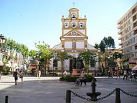 Plaza de la Iglesia de la Inmaculada, en La Línea de la Concepción.