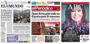 Prensa de hoy: Las portadas de los periódicos del martes 13 de agosto del 2019