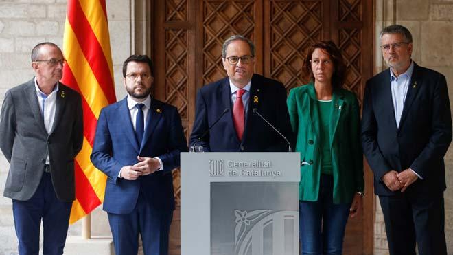 Quim Torra pide que pare la violencia e insta a Sánchez a negociar.