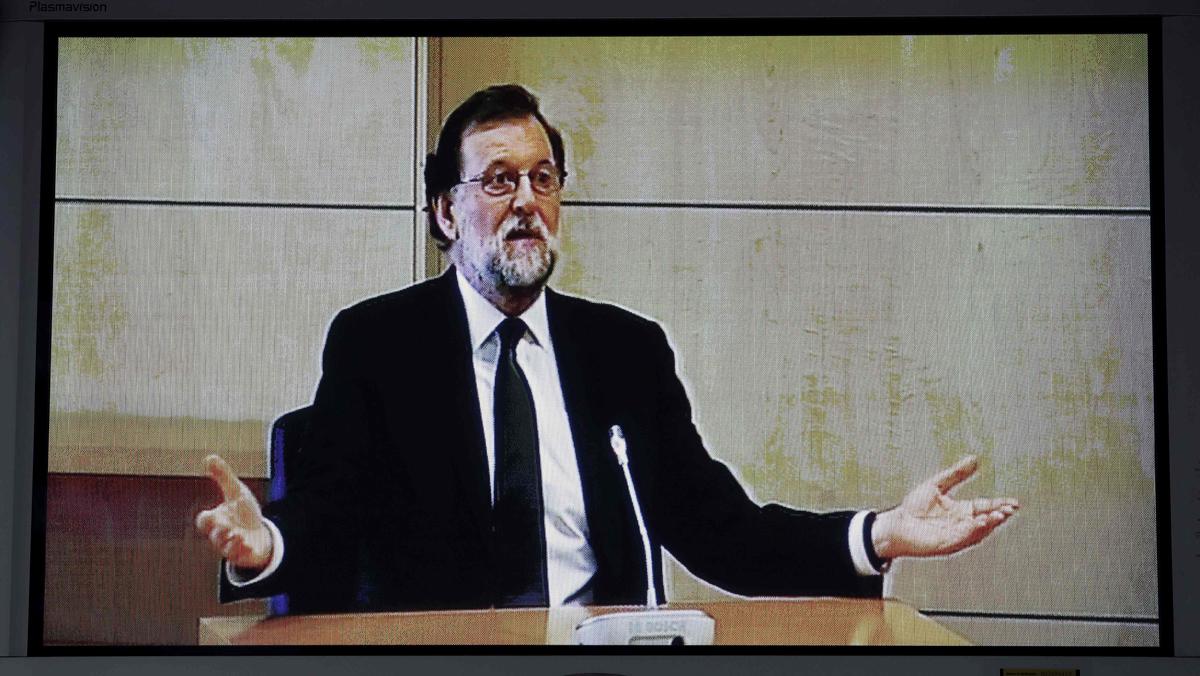 Rajoy declara ante la Audiencia Nacional por el 'caso Gürtel'.