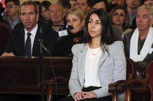 Raquel Gago,en la Audiencia de León enenero.