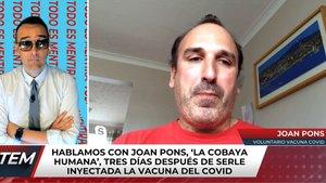 """Risto Mejide habla con un español que ha probado la vacuna del coronavirus: """"Dijeron que podía morir"""""""