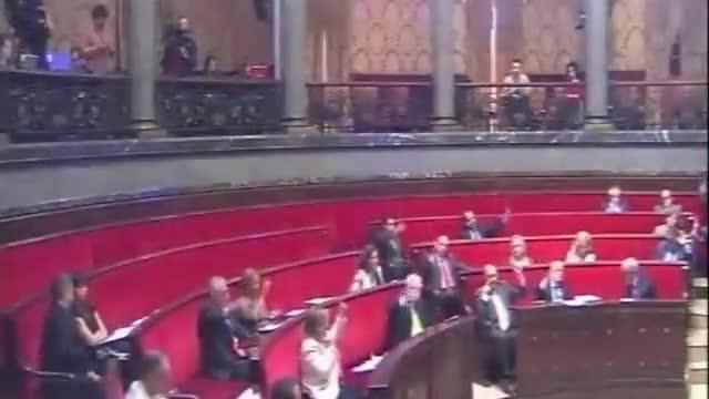 Pleno del Ayuntamiento de Valencia donde Rita Barberà sufre la rima fácil del '25'.