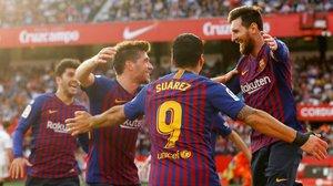 Messi enfonsa el Sevilla amb una altra exhibició (2-4)