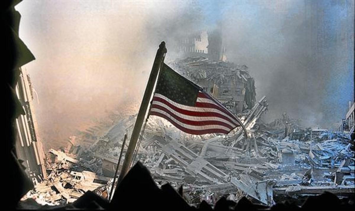 Ruinas del World Trade Center el 11-S.