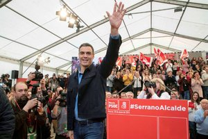 Pedro Sánchez, en Murcia.