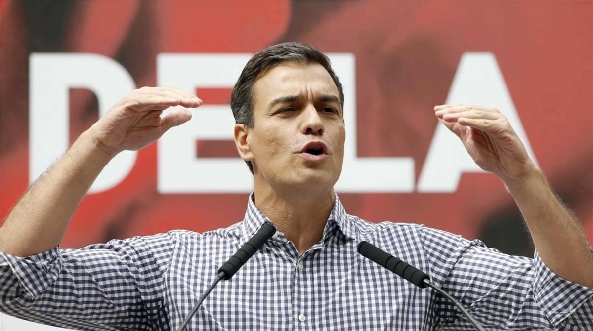 Sánchez, el pasado sábado, durante su intervención en la Festa de la Rosa del PSC celebrada en Gavà.