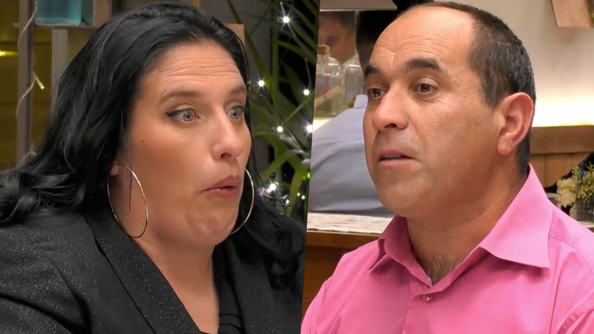 Sandra y Manuel en 'First Dates'.