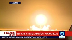 The Payam satellite is launched in Iran  in this still image taken from video  Reuters TV via REUTERS IRAN