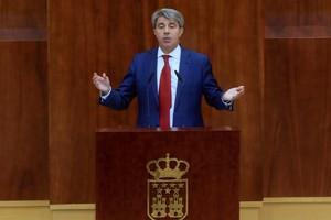 Ángel Garrido, durante su intervención en el debate del estado de la región.