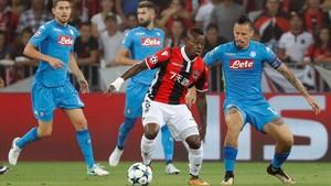 Seri, durante una acción en el partido ante el Nápoles.
