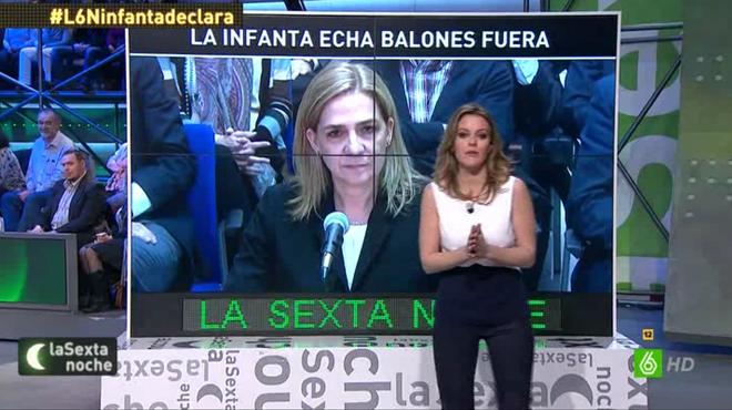 Andrea Ropero introdujo el tema de la infanta en 'La Sexta noche'.