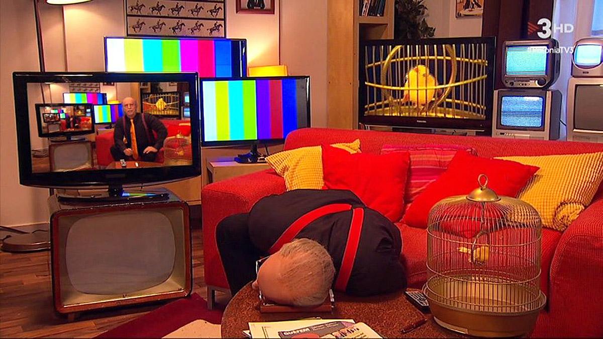 Jordi Rios escenificó la muerte del crítico en el Polònia de TV-3.
