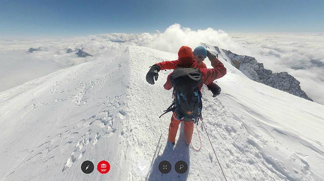 Imagen de la cima del Mont-Blanc.