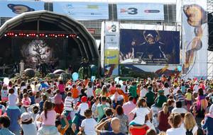 Vista general de la Festa dels Súpers, en el anillo olímpico de Montjuïc.